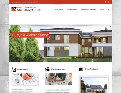 Strona internetowa ARCH-PROJEKT