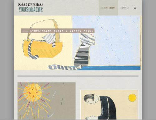 Strona internetowa Małgorzata Baja ilustracje