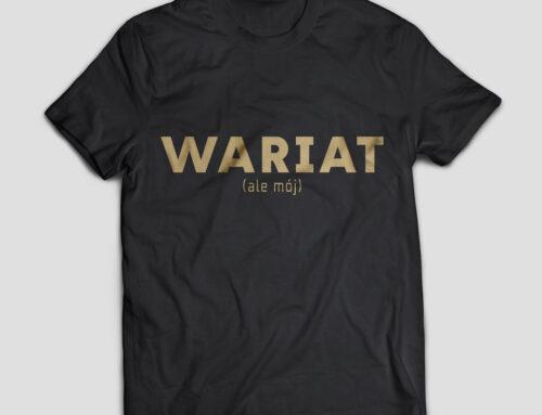 Koszulka Wariat ale mój walentynki